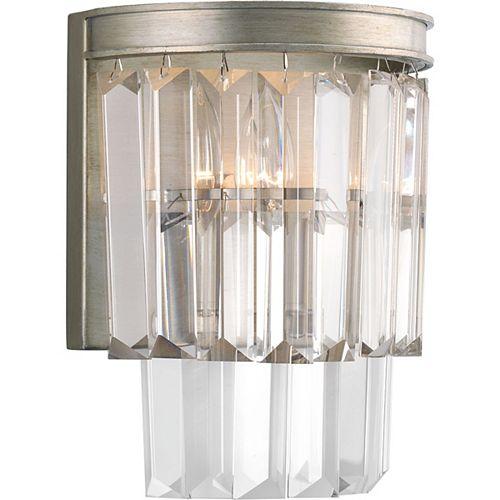 Applique à 2 lumières, collection Glimmer - fini Silver Ridge