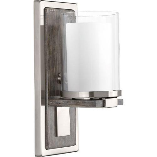 Applique à 1 lumière, collection Mast - fini nickel brossé