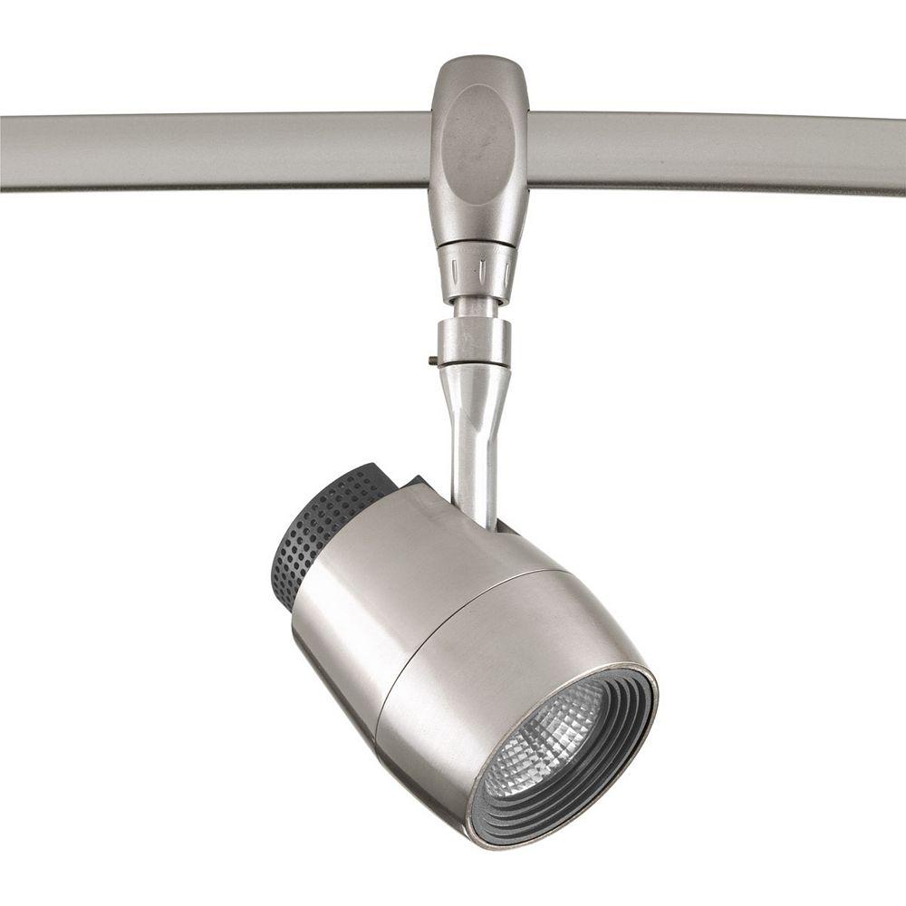 Progress Lighting Tête d'éclairage pour rail à 1 lumière, collection Flex Track DEL - fini nickel brossé