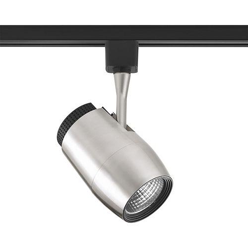 Tête d'éclairage pour rail à 1 lumière, collection Track DEL - fini nickel brossé