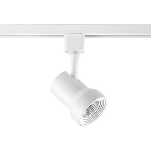 Tête d'éclairage pour rail à 1 lumière, collection Track DEL - blanc