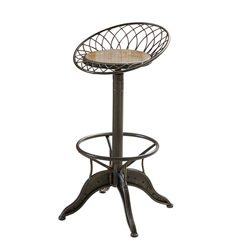 Grayson Weathered Wood Barstool