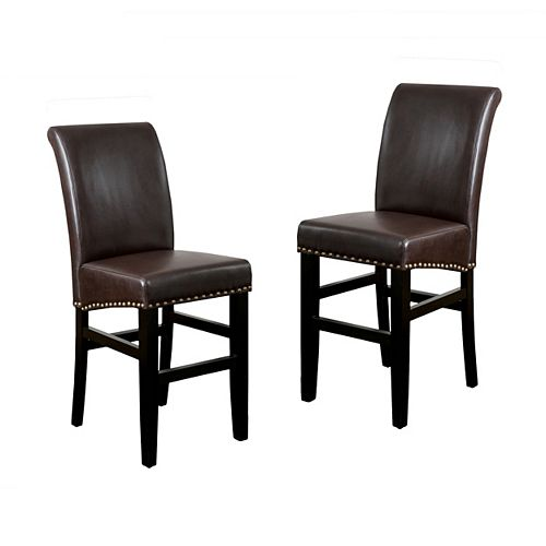 Lisette Leather Counter Stool (Set of 2)