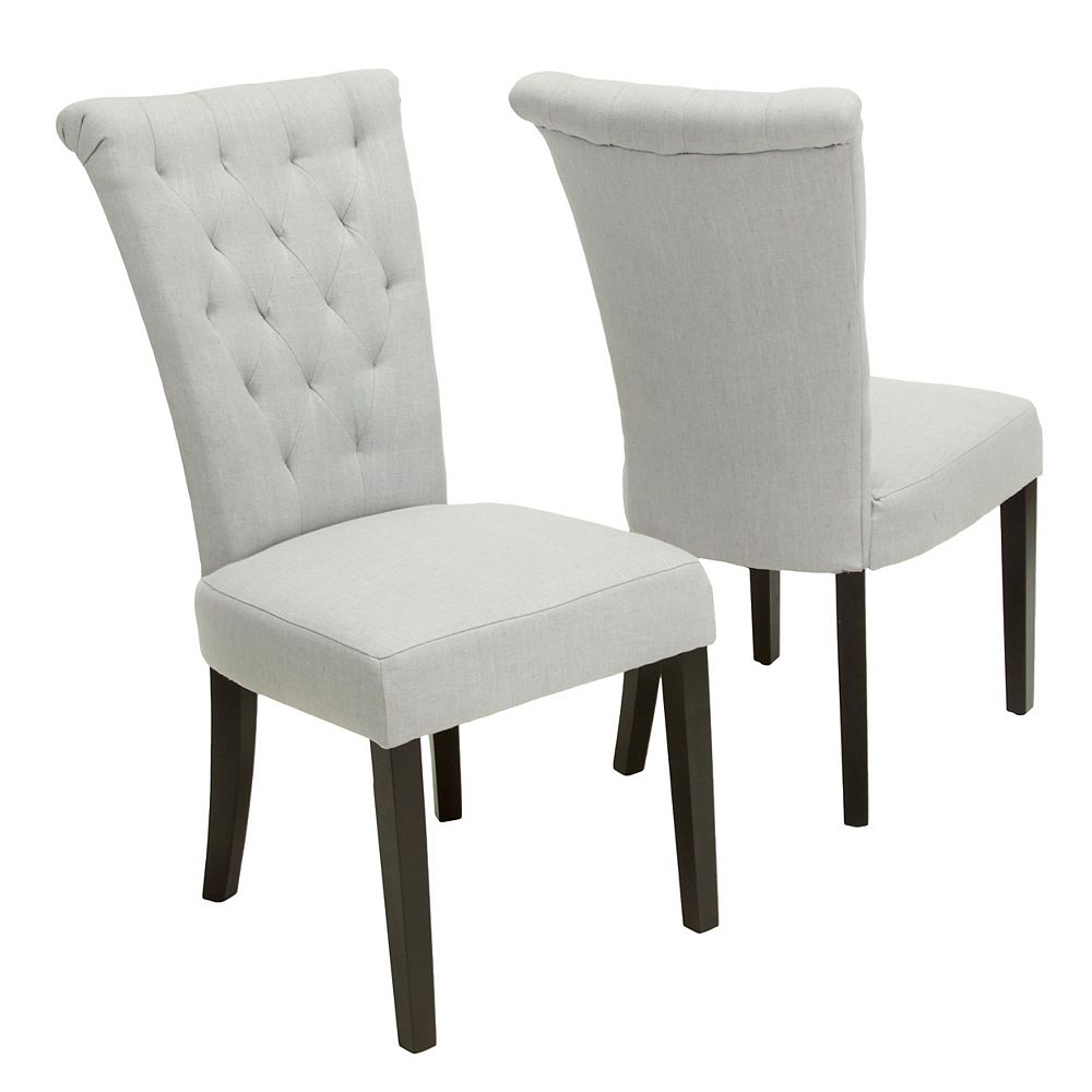 Great Deal Furniture Chaises de salle à manger gris clair Venetian (Lot de 2)