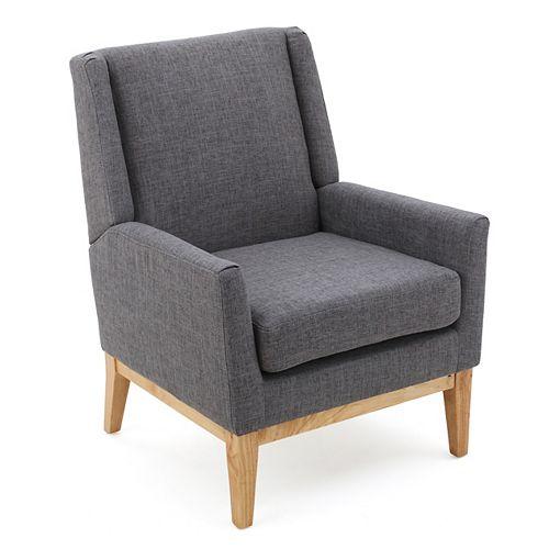 Aurla Light Grey Fabric Accent Chair