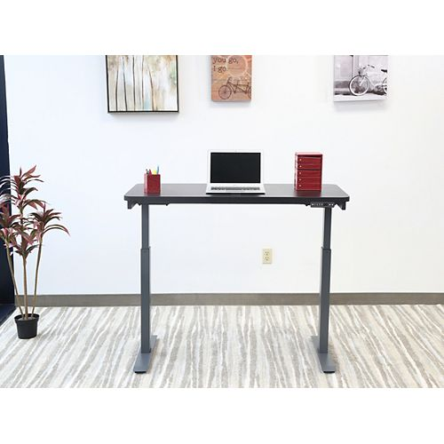 Electric Height Adjustable Desk,Home Office Style,24-inch X48-inch , Black