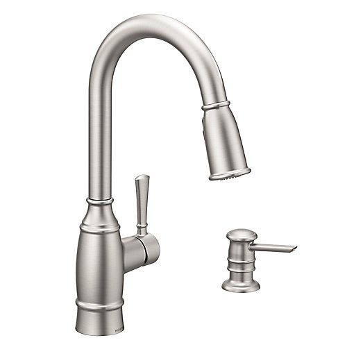 Noell Single-Handle Pull-Down Sprayer Kitchen Faucet with Reflex in Spot Resist Stainless