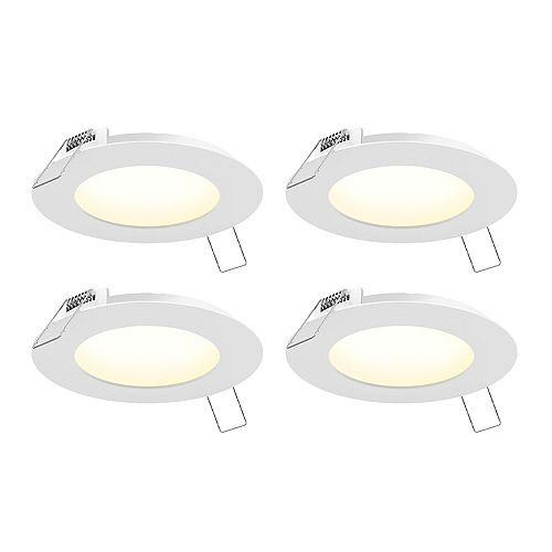 6-inch LED Recessed Panel Light Kit (4-Pack)