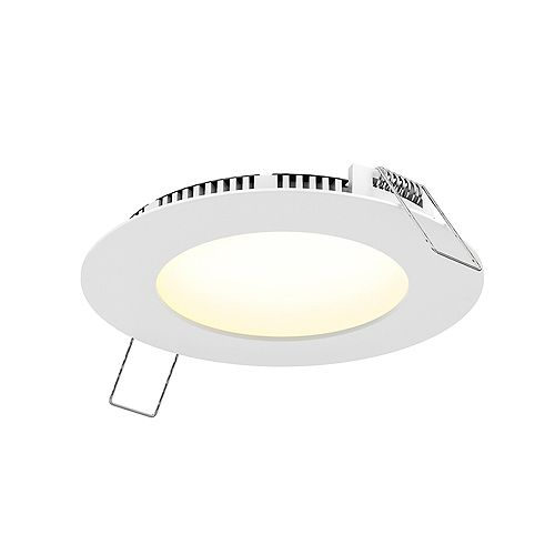4-inch LED White Recessed Panel Light with Selectable Colour Temperature, 600 Lumens