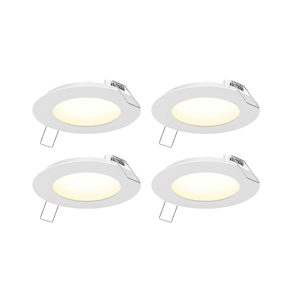 Illume 4-inch Integrated LED Recessed Lighting Kit (4-Pack)