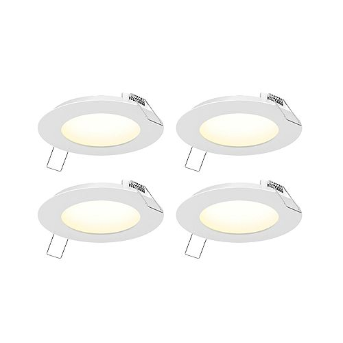 4-inch LED Recessed Panel Light Kit (4-Pack)