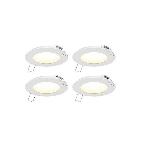 3-inch LED Recessed Panel Light Kit (4-Pack)