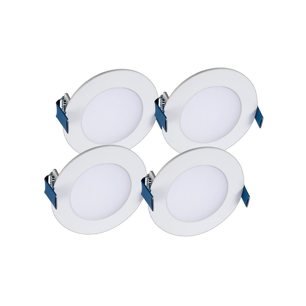 Halo 4 inch Round LED Blade w/CCT 4PK