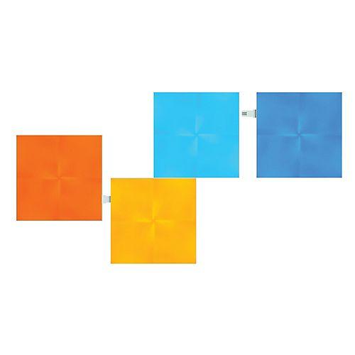 Nanoleaf Panneaux lumineux multicolores à DEL Canvas modulaires de forme carrée, ens. de 4
