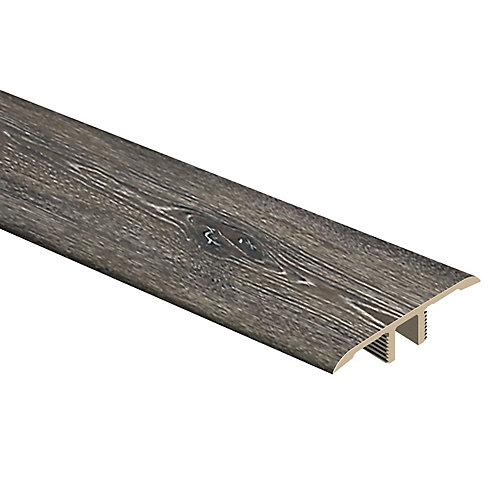 Moulure en T en vinyle de 1/3 po d'épaisseur x 1 3/4 po de largeur x 72 po de longueur, Chêne gris foncé