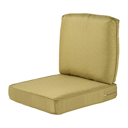 Spring Haven Olive Replacement 2-Piece Outdoor Deep Seating Chair Cushion Set