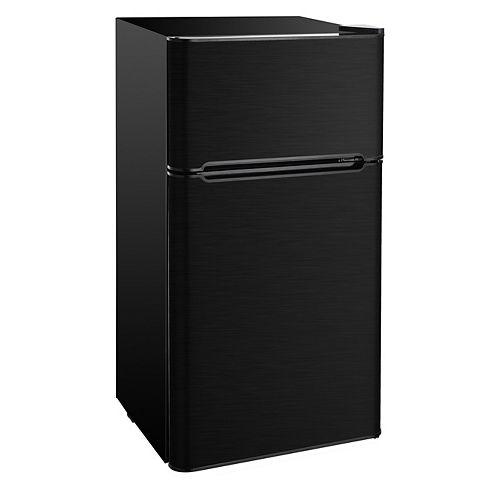 4.5 cu. ft. 2 Door Refrigerator in Black Stainless Steel