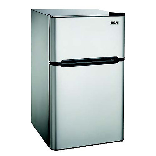 4.5 cu. ft. Compact 2 Door Fridge/Freezer Combination - Stainless Steel