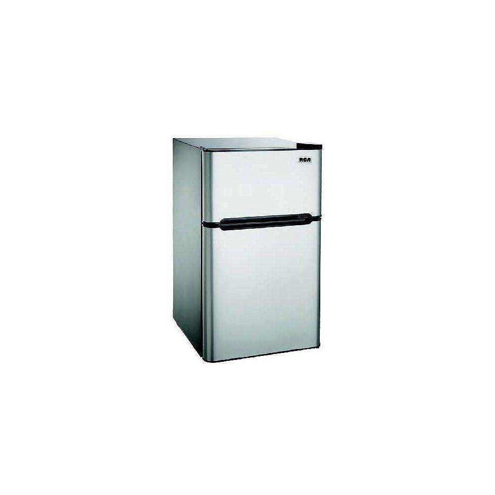RCA 4.5 cu. ft. Compact 2 Door Fridge/Freezer Combination - Stainless Steel