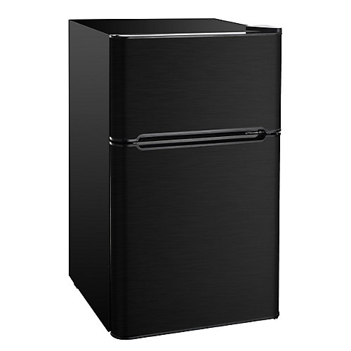 3.2 cu. ft. Compact 2 Door Fridge/Freezer Combination - Black Stainless Steel