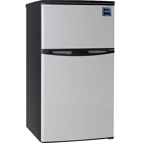 3.2 cu. ft. 2 Door Fridge/Freezer Combination - Stainless Steel