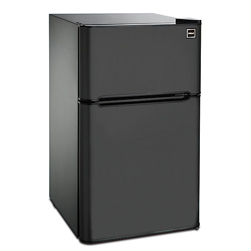 3.2 cu. ft. 2 Door Fridge with Top Freezer - Black