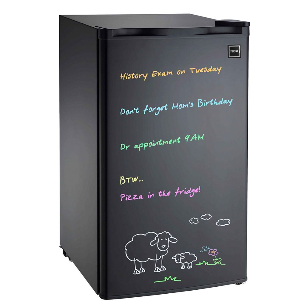 RCA 3.2 cu. ft. Dry Eraser Board Mini Refrigerator with Neon Markers