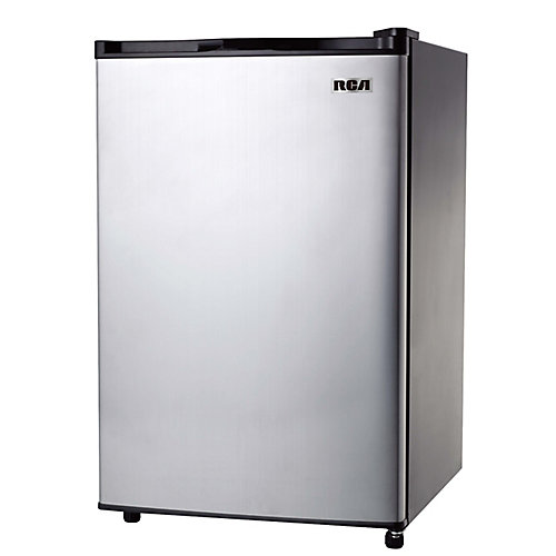 3.2 cu. ft. Compact Mini Fridge - Stainless Steel