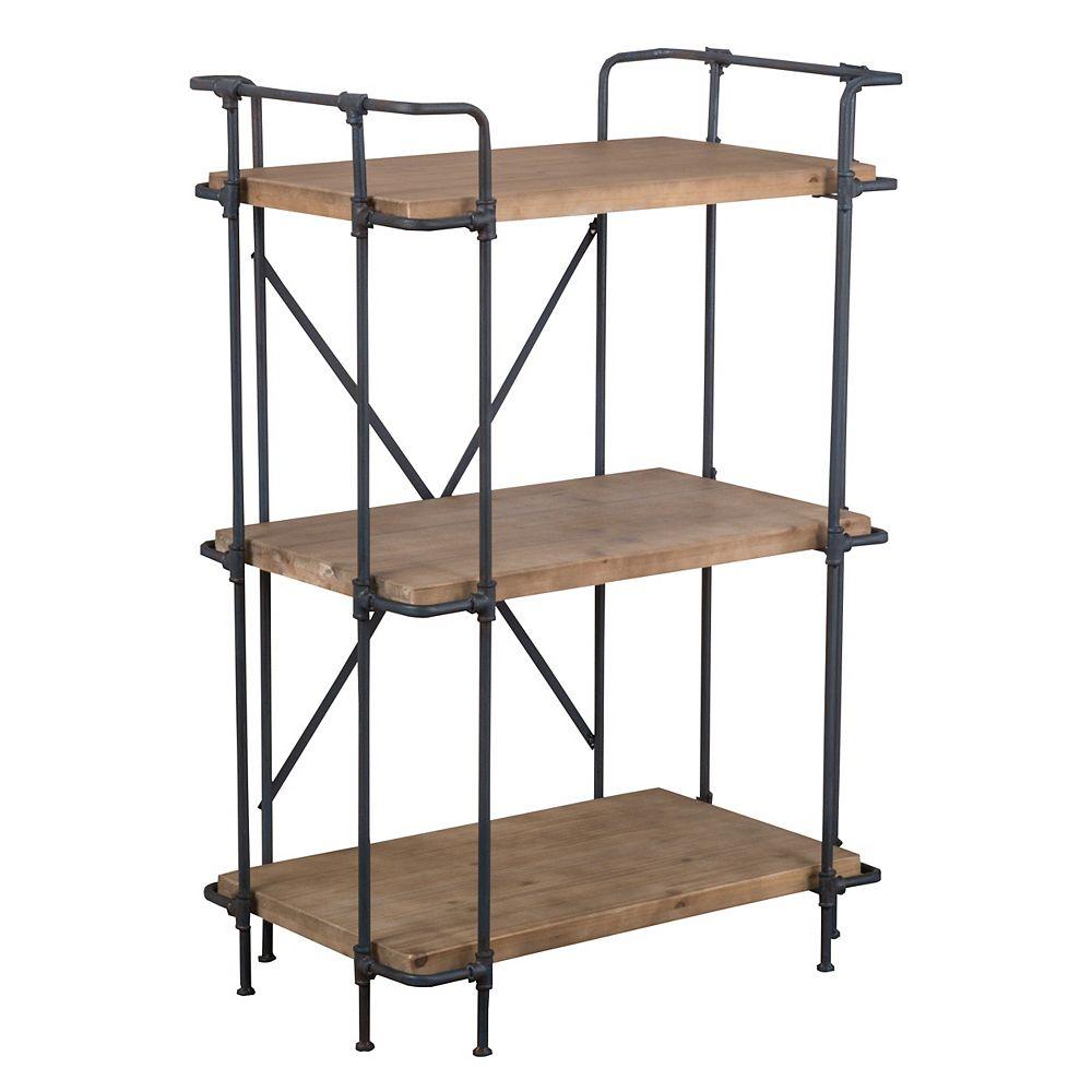 Great Deal Furniture Yana 3-Bibliothèque à étagères