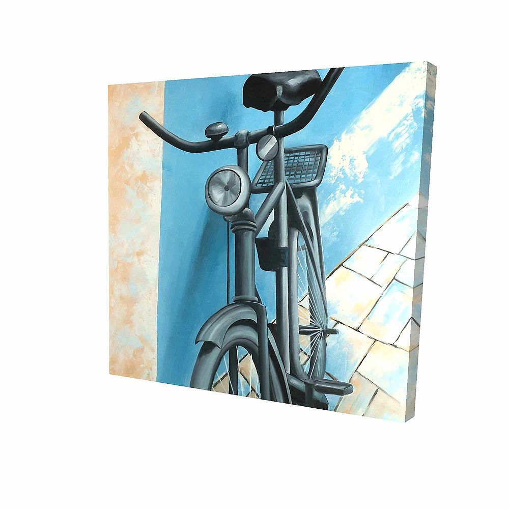 BEGIN EDITION INTERNATIONAL INC. Abandoned Bicycle Printed On Canvas Wrapped On Wood, 36-inch x 36-inch
