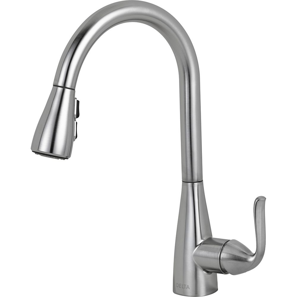 Delta Grenville Single Handle Pull-Down Kitchen Faucet - Stainless Steel