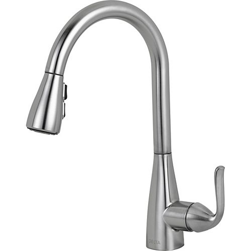 Grenville Single Handle Pull-Down Kitchen Faucet - Stainless Steel