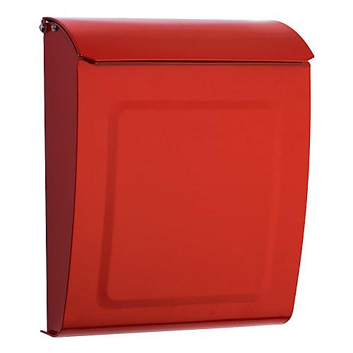 Boîte à lettres verrouillable pour montage mural Aspen rouge