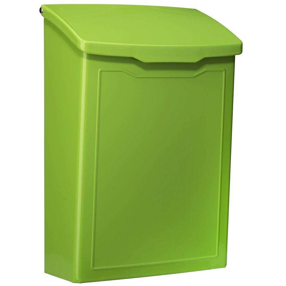 Architectural Mailboxes Marina Wall Mount Mailbox Lime Green