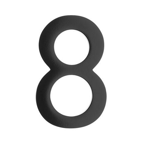 "Address Number 4 inch. Brass Black ""8"""