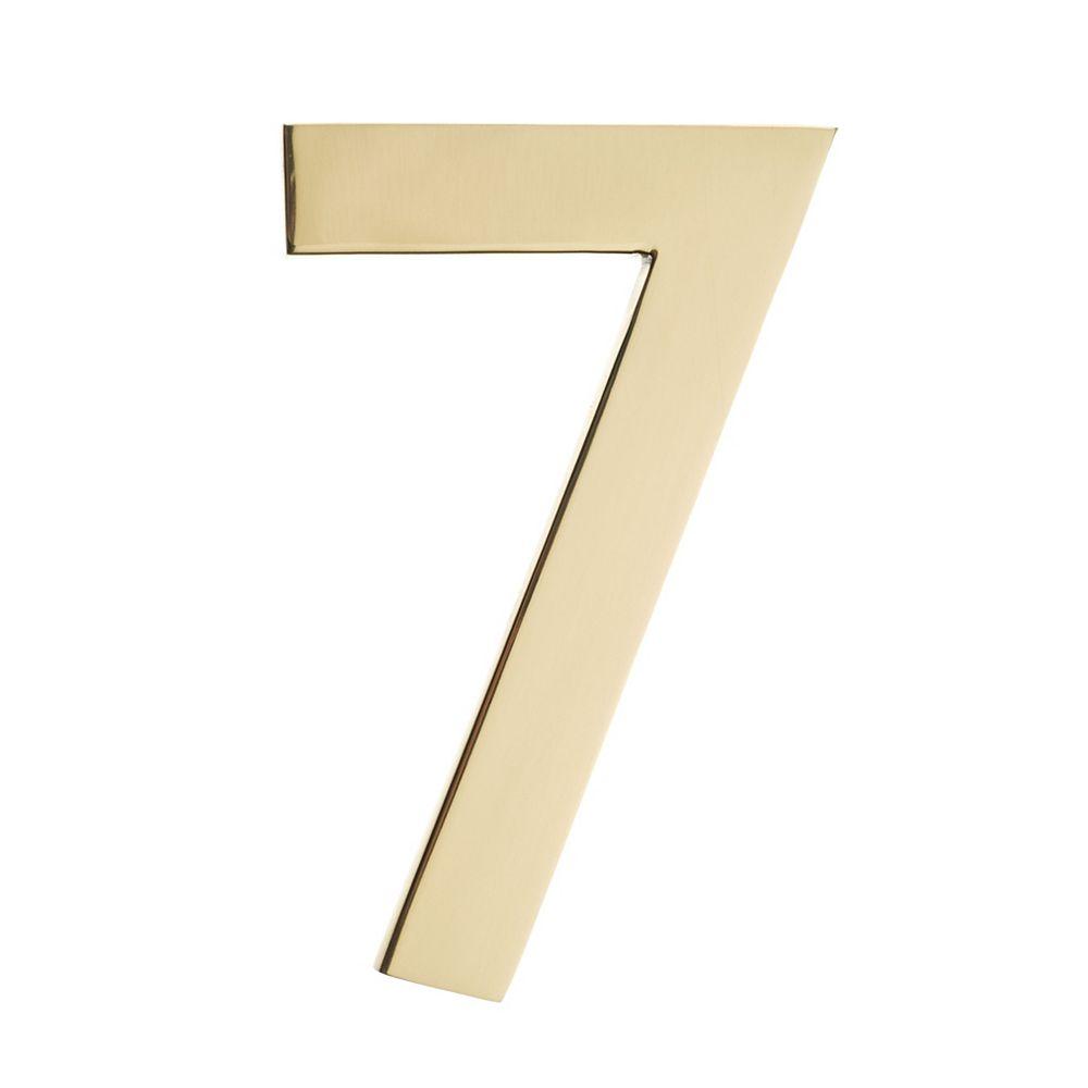 Architectural Mailboxes Numéro pour adresse 4po laiton poli «7»