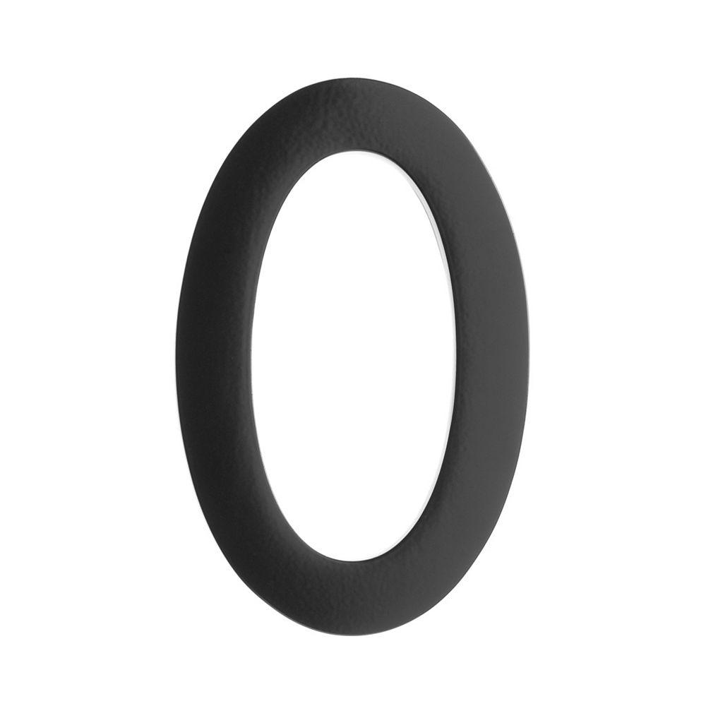 Architectural Mailboxes Numéro pour adresse 5po laiton noir «0»