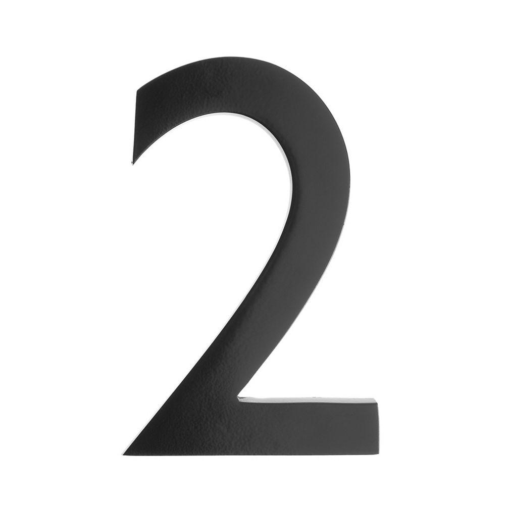 Architectural Mailboxes Numéro pour adresse 5po laiton noir «2»