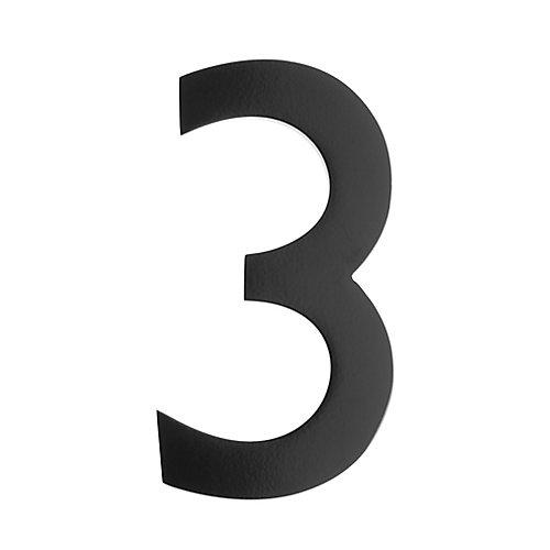 Numéro pour adresse 5po laiton noir «3»
