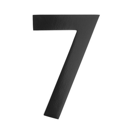 Numéro pour adresse 5po laiton noir «7»