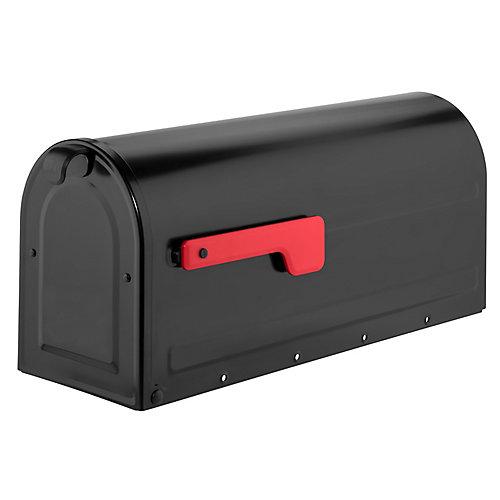 Boîte à lettres pour montage sur poteau MB1 noir avec drapeau rouge Export