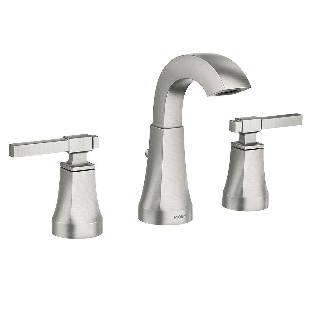 Moen Ayda 8 Inch Widespread 2 Handle, Moen Bathroom Faucets Widespread Brushed Nickel