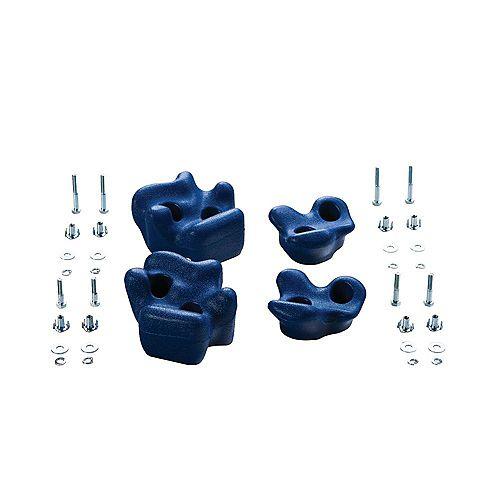 Prises d'escalade (ensemble de 4)- Bleu
