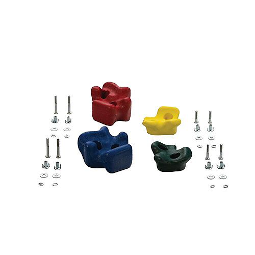 Creative Cedar Designs Playset Climbing Rocks (set of 4)- Green, Yellow, Blue & Red