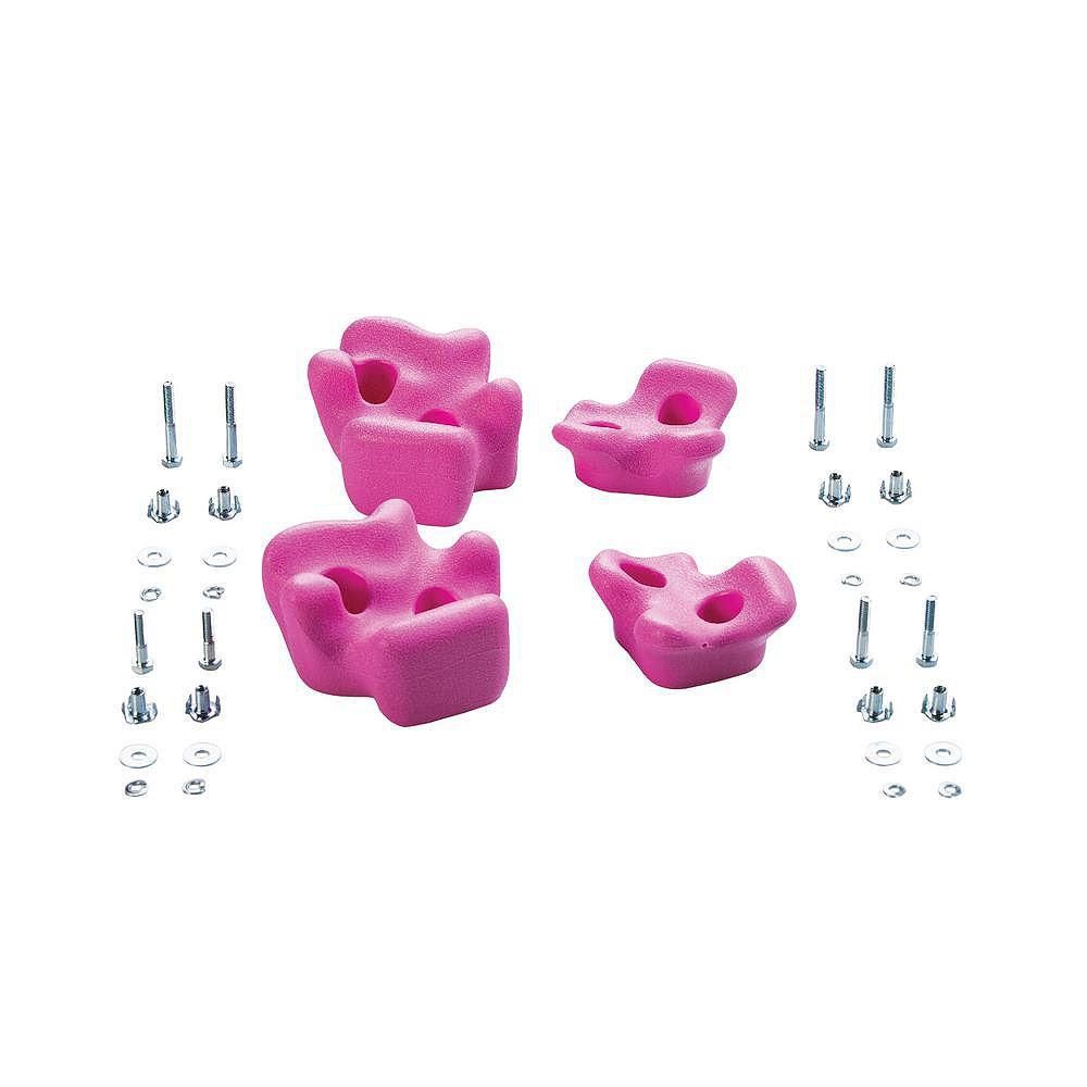 Creative Cedar Designs Playset Climbing Rocks (set of 4)- Pink