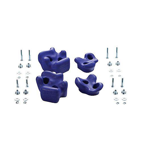 Creative Cedar Designs Playset Climbing Rocks (set of 4)- Purple