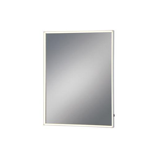 Miroir rectangulaire moyen à DEL à bord illuminé - 31479-011