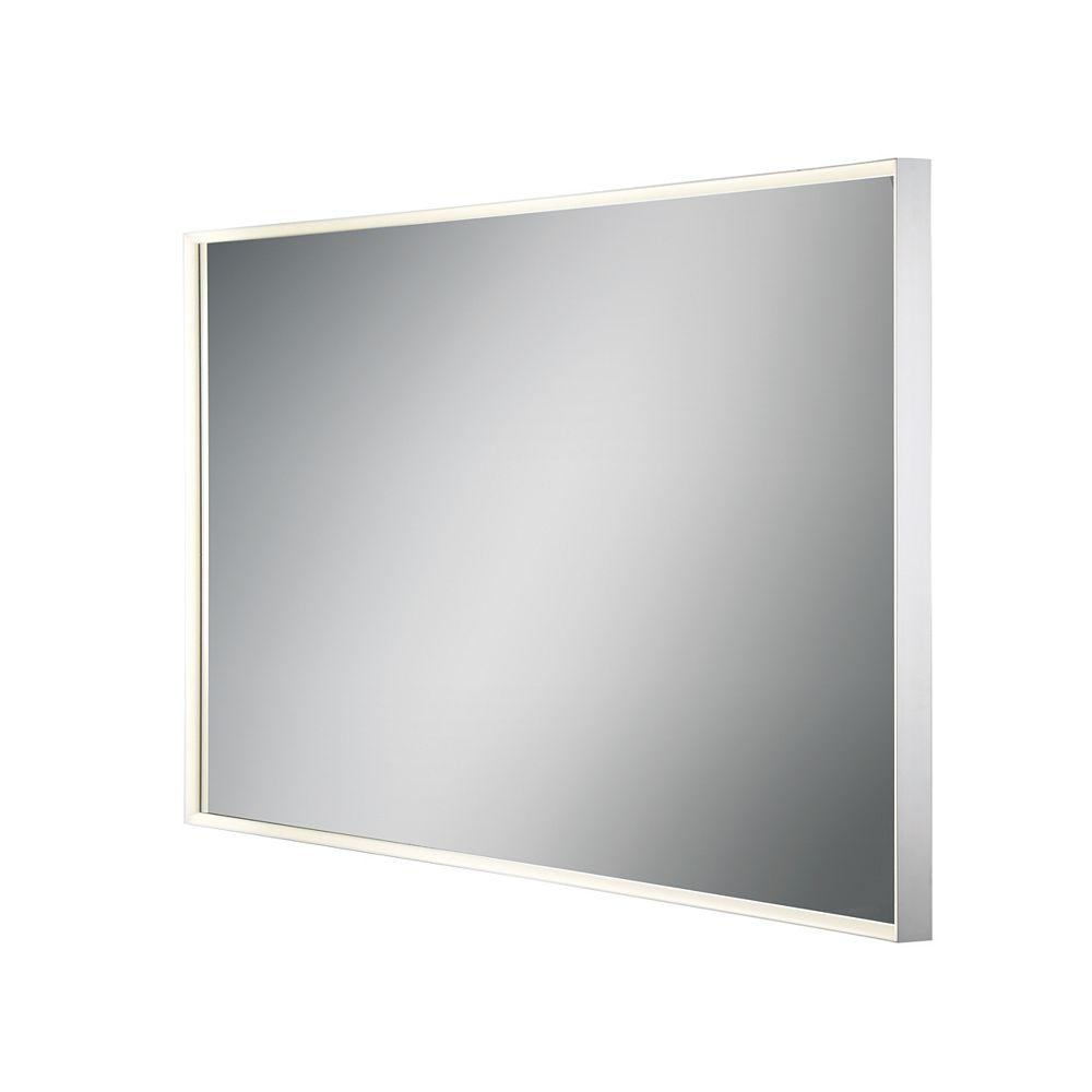 Eurofase Grand miroir rectangulaire à DEL à bord illuminé - 31480-017