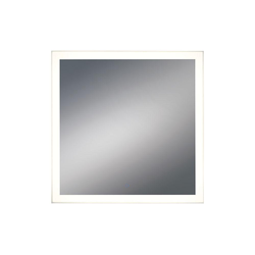 Eurofase Miroir carré à DEL à bord illuminé, détecteur tactile d'intensité variable - 31482-015