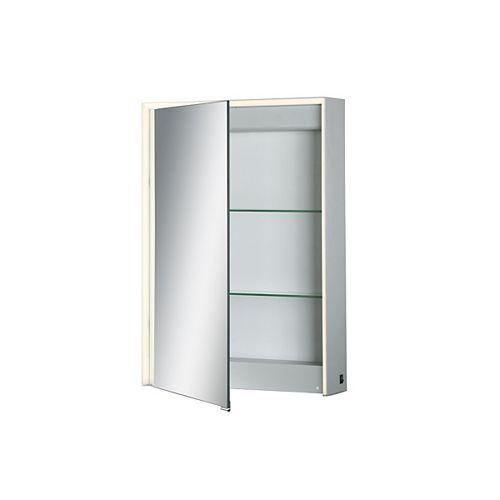 Armoire à miroir à DEL à bord illuminé, porte unique - 31484-015